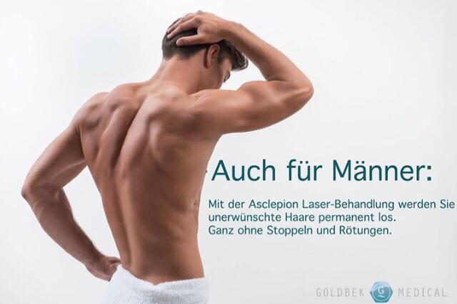 dauerhafte Haarentfernung auch für Männer