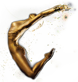 goldene Frau komplett enthaart dank Mediostar - Laser